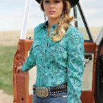 printed cowgirl shirt